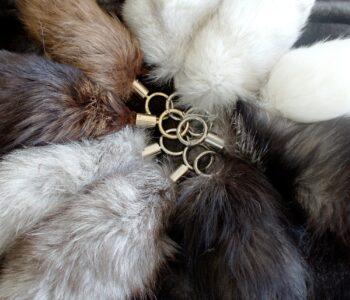 Fox Fur Tail Keychain