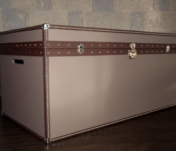 HP1 Leather Storage Trunk