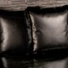 Embossed Leather Iguana Print Cushion