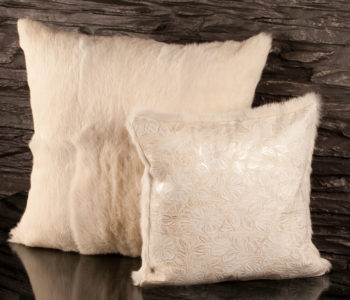 Fur Flower Meadow Cushion