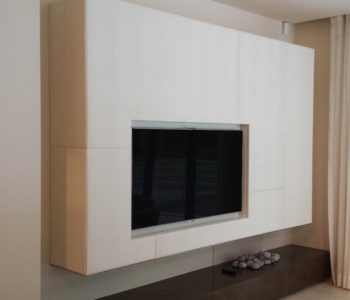 White Leather Wall Panel