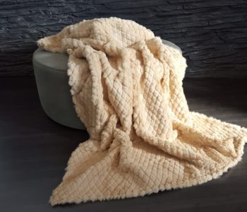 Diamond Textured Rabbit Fur Blanket