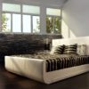 Minelli Sleigh Leather Bed