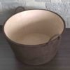 Circular Nubuck Basket with Handles
