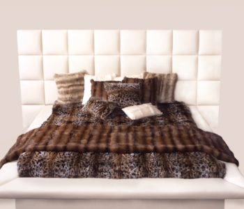 Infinity Bed with Leather Headboard