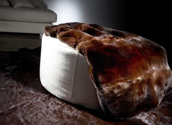 Dark Cinnamon Imperial Chinchilla Rex Fur Blanket