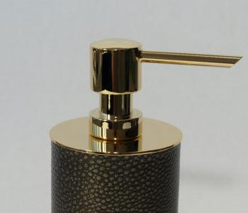 Circular Leather Soap Dispenser