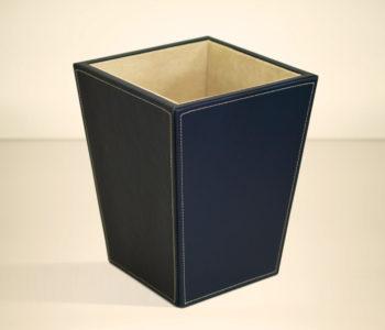 Leather Waste Paper Basket