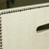Anaconda Printed Leather Laundry Basket