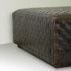 Meribel Woven Leather Ottoman