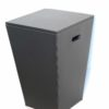 Square Tapered Leather Laundry Basket