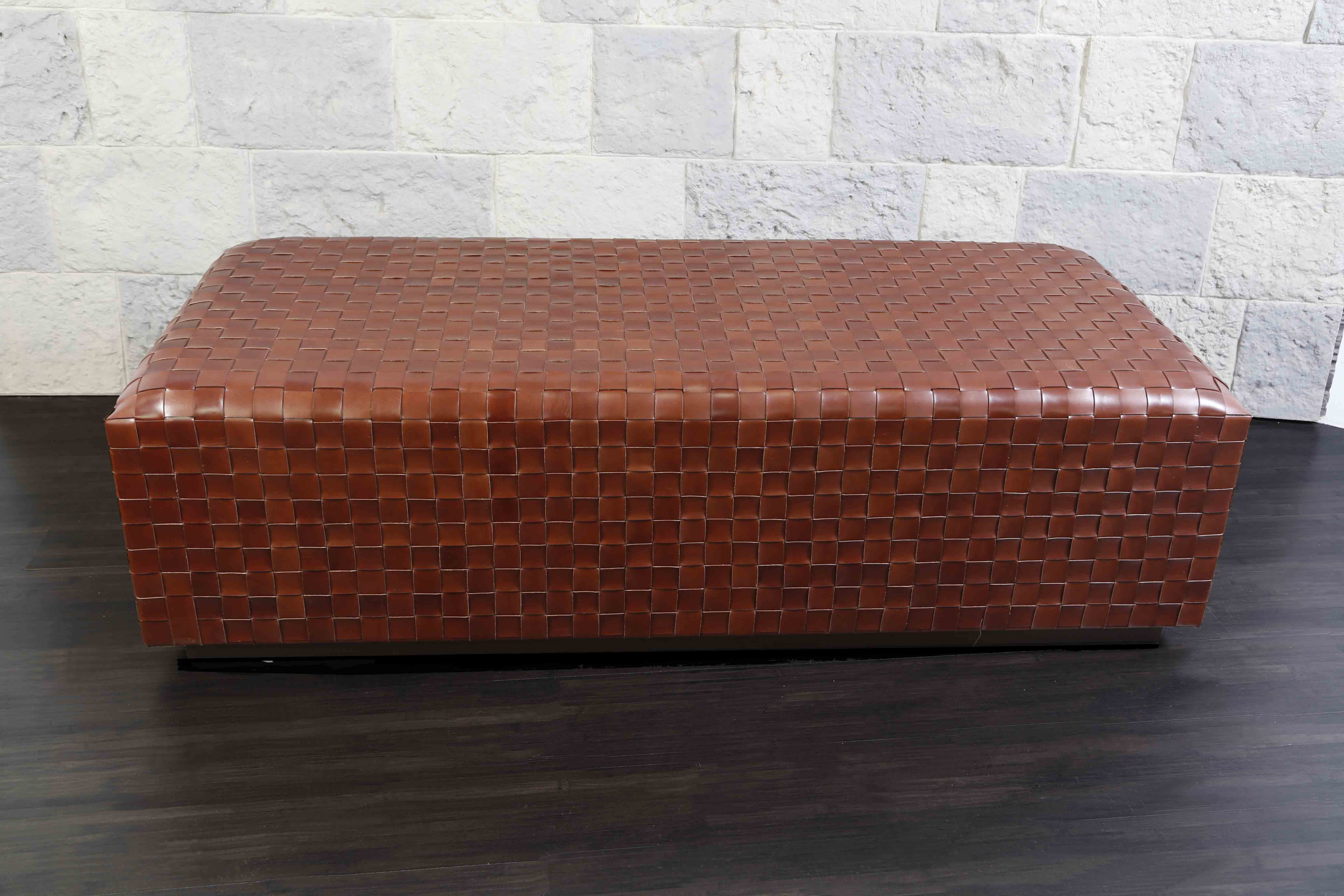 Gentil Leather U0026 Suede Ottomans, Ottomans, Ottomans / Coffee Tables, Woven Leather  Furniture, Woven Leather Furniture