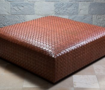 Belvoir Woven Leather Ottoman
