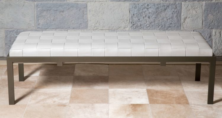 'Alyssaa' Woven Leather Banquette