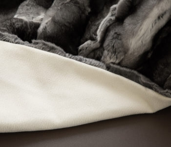 Ivory Sable Cashmere lining with ripple effect