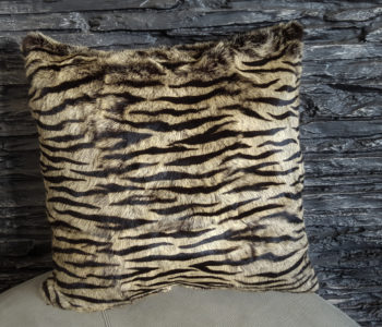 Rabbit fur cushion