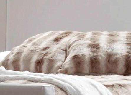 Rabbit fur cushion, Siberian Fox