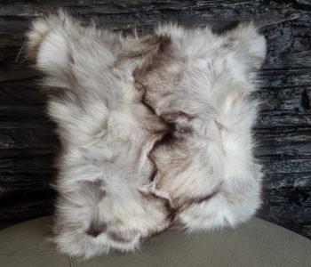fox fur pillow