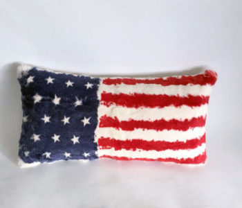 Rabbit fur usa flag